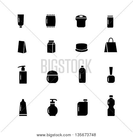 Packaging vector icons. Box package, packaging container, packaging delivery, packaging cardboard illustration