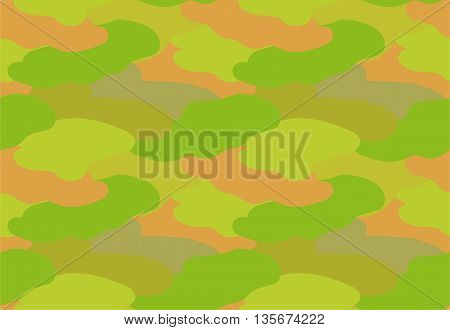 Camouflage fabric khaki color military style seamless print pattern vector illustration