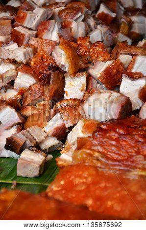 Roasted Pork In Market