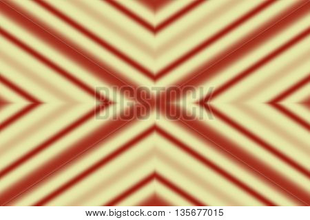 Illustration of red and vanilla colored x-pattern