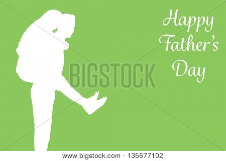 Man giving piggyback to woman on green background