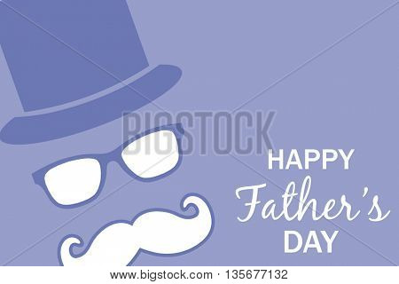 Happy fathers day against purple background
