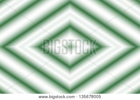 Illustration of a dark green and white rhombus