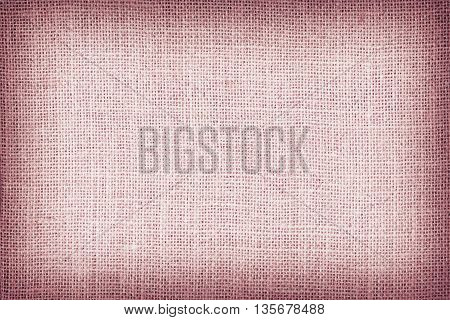 Natural Sackcloth Textured For Background, Red Colour