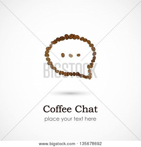 Vector illustration of a Coffee Chat on white background