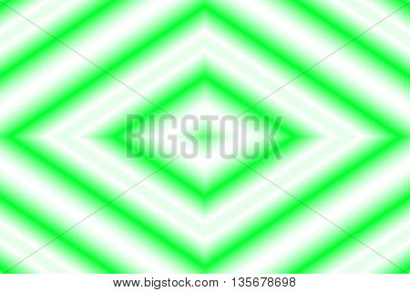 Illustration of a green and white rhombus