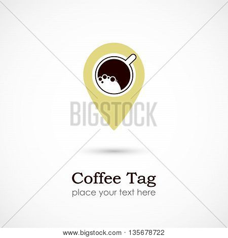 Vector illustration of a Coffee Tag on white background