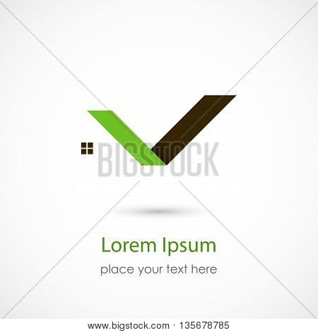 Vector illustration of a House Symbol on white background