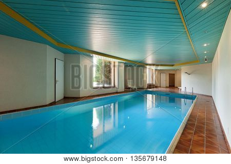 Architecture, house with indoor swimming pool