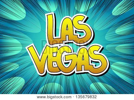 Las Vegas - Comic book style word.