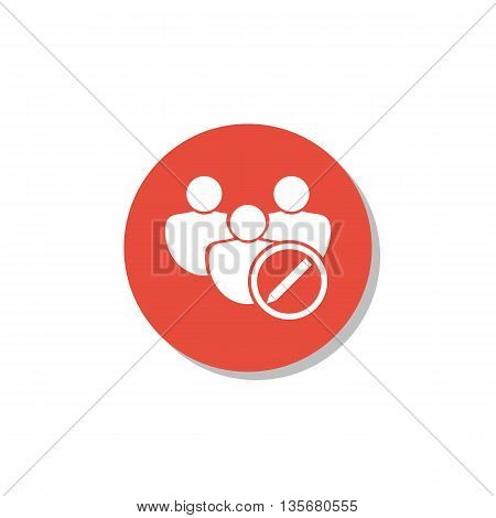 User Edit Icon In Vector Format. Premium Quality User Edit Symbol. Web Graphic User Edit Sign On Red