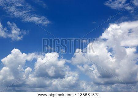 beautiful summer clouds in blue sky