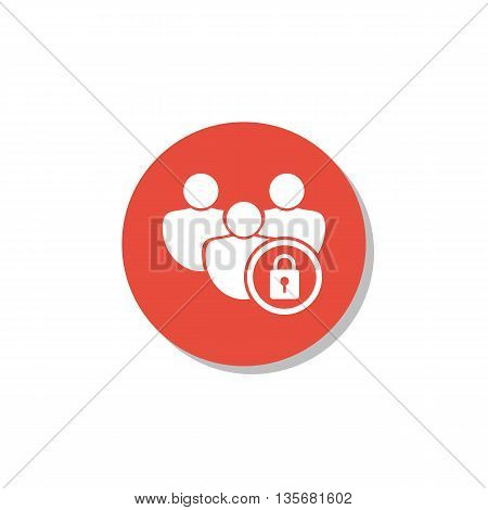 User Lock Icon In Vector Format. Premium Quality User Lock Symbol. Web Graphic User Lock Sign On Red