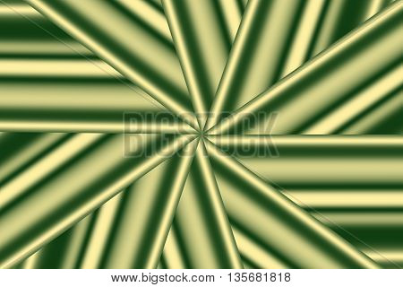 Illustration of a dark green and vanilla colored star pattern