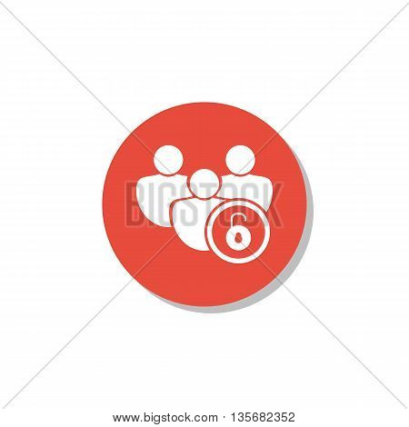 User Open Icon In Vector Format. Premium Quality User Open Symbol. Web Graphic User Open Sign On Red