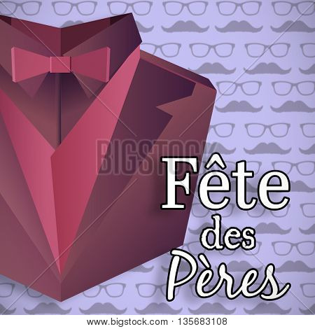 Fete de peres message on purple background