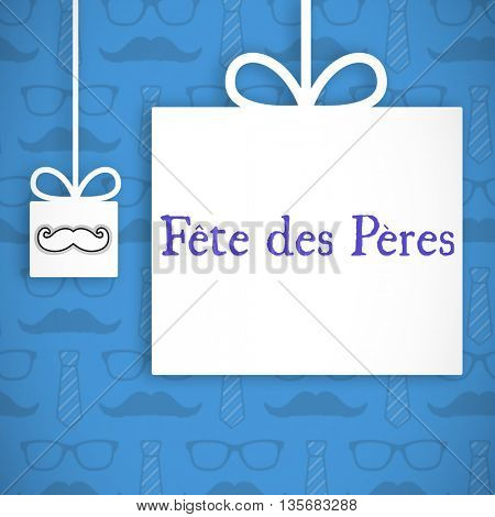 Fete de peres message on blue background