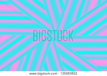 Illustration of a cyan and pink star pattern