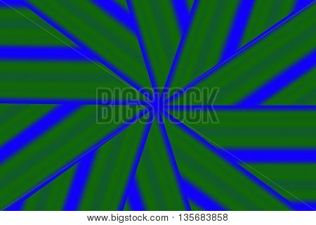 Illustration of a dark green and blue star pattern