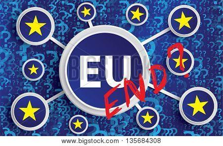 Eu Stars And Symbols -  Brexit