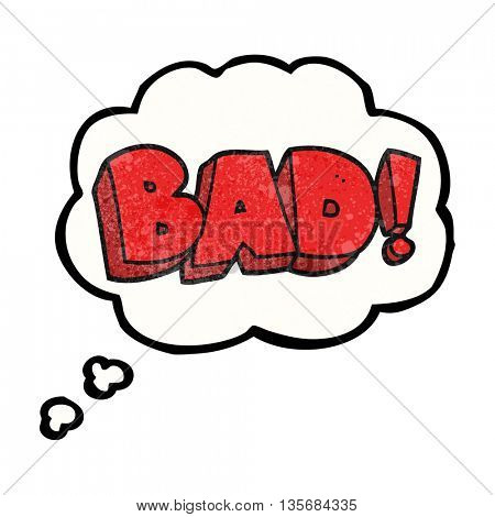 freehand drawn thought bubble textured cartoon Bad symbol