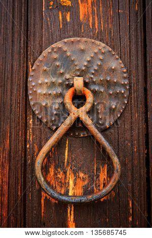 abstract old vintage door handle