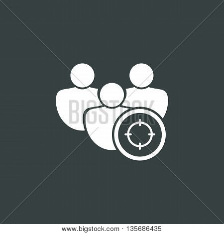 User Goal Icon In Vector Format. Premium Quality User Goal Symbol. Web Graphic User Goal Sign On Dar
