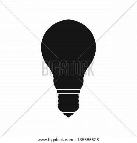 Light bulb icon in simple style isolated on white background