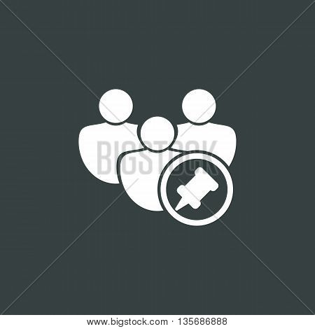 User Pin Icon In Vector Format. Premium Quality User Pin Symbol. Web Graphic User Pin Sign On Dark B