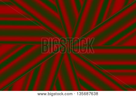 Illustration of a dark green and red star pattern