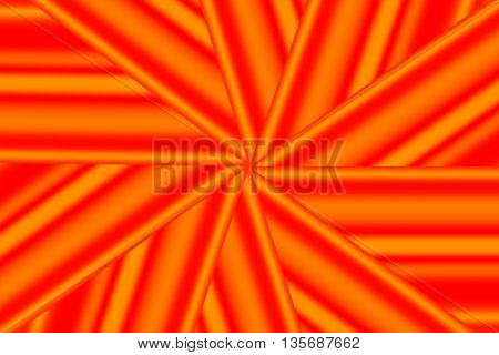 Illustration of a red and orange star pattern