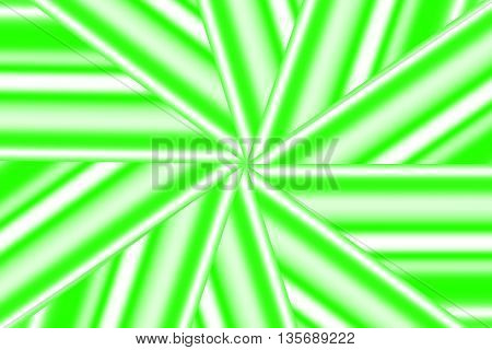 Illustration of a green and white star pattern