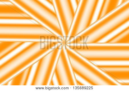 Illustration of an orange and white star pattern