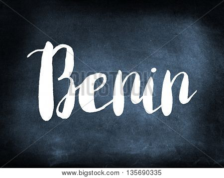 Benin written on a blackboard