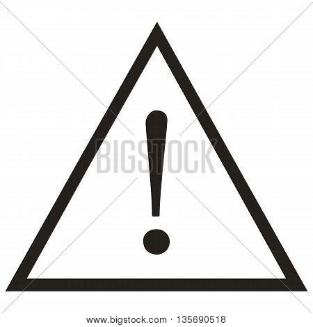 Attention Sign danger warning sign sign design flat computer graphic