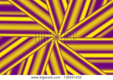 Illustration of a purple and yellow star pattern