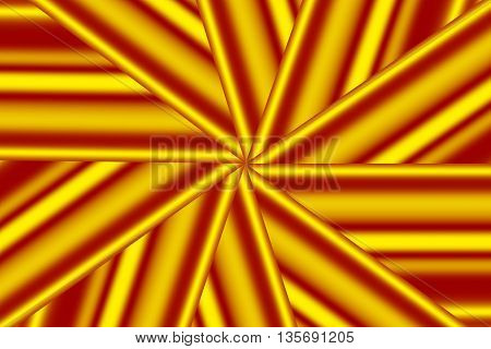 Illustration of a yellow and red star pattern