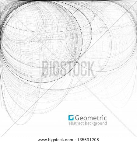 geometric abstract background with circles, illustration for business layouts