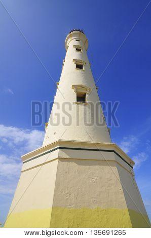 California lighthouse located on the island of Aruba