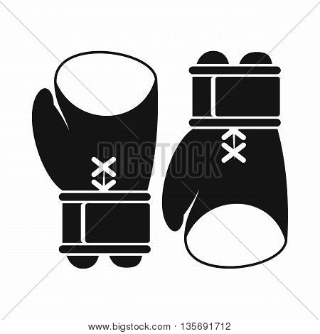 Boxing gloves icon in simple style isolated on white background