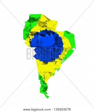 South america geometric polygonal style easy all editable
