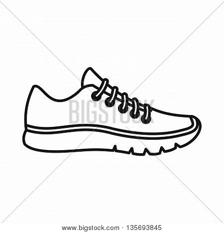Sneakers icon in outline style isolated on white background