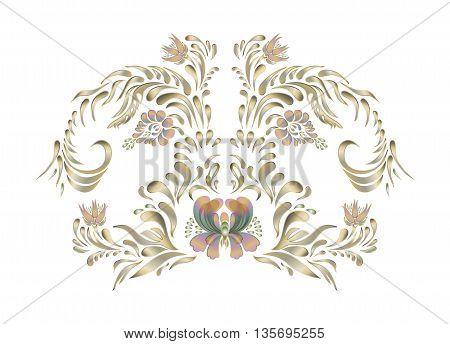 Vintage Floral Pattern. Vector Design