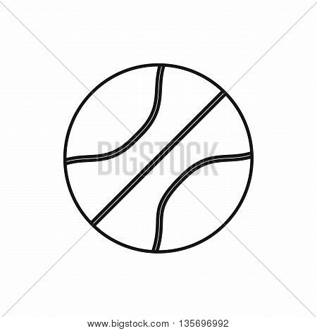 Basketball ball icon in outline style isolated on white background