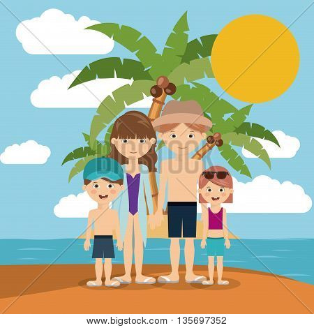 family beach vacation design, vector illustration eps10 graphic
