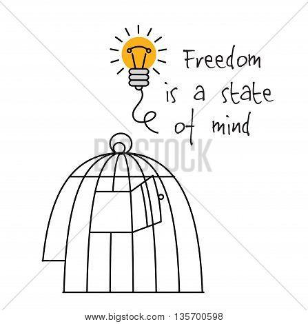 Creative ideas mind symbols bulb head and sign. Color vector illustration. EPS8
