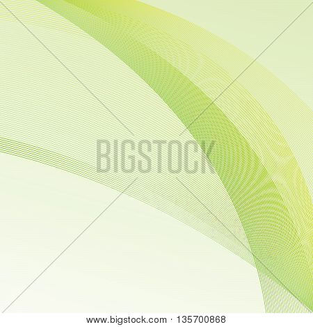 Vector Abstract curved lines background - illustration