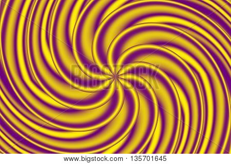 Illustration of a turning yellow and purple star