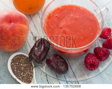 fruit smoothie with chia seed
