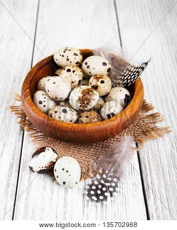 Bowl With Fresh Quail Eggs